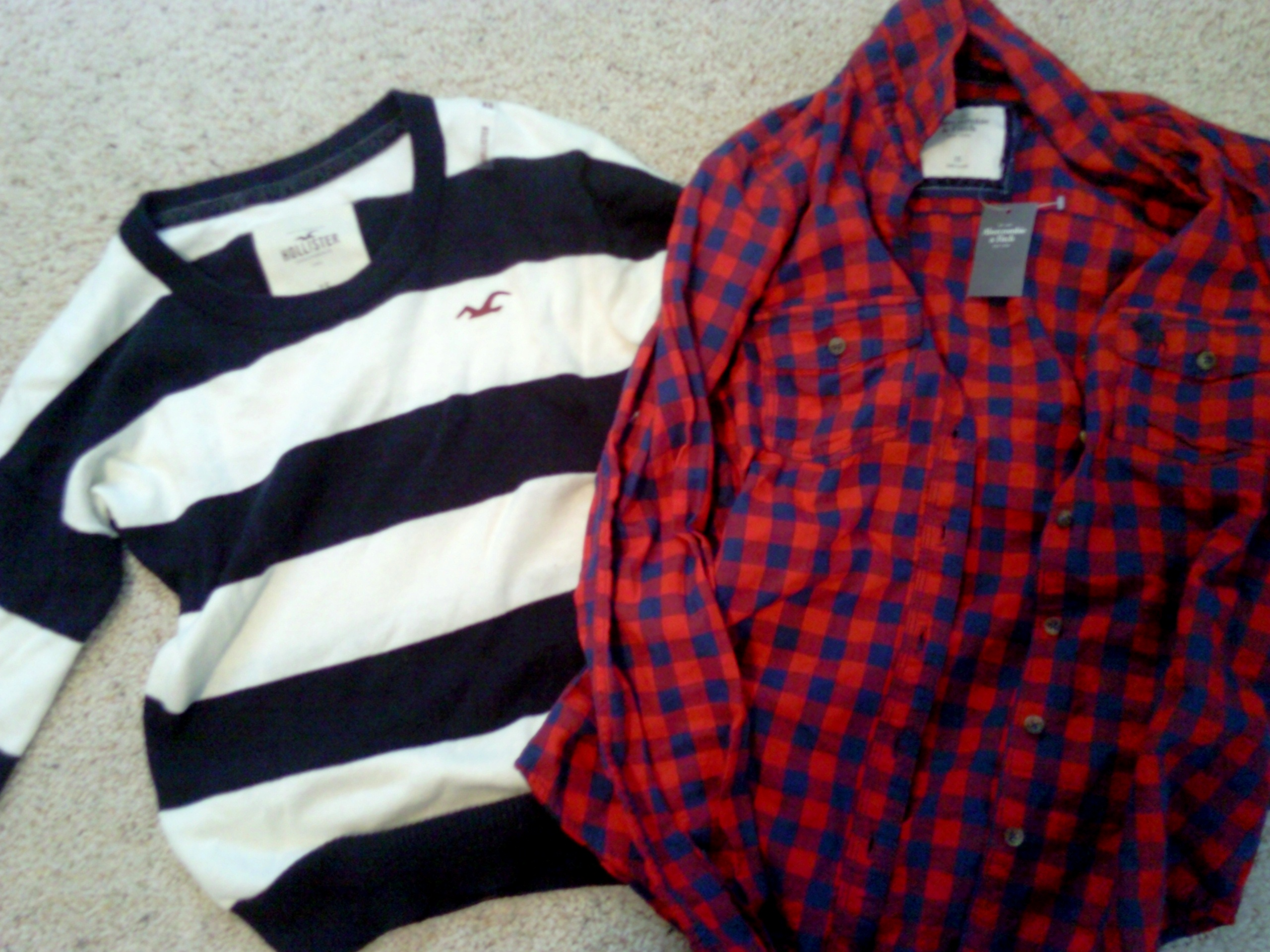 Hollister Red Plaid Shirt Red/navy Plaid Shirt From