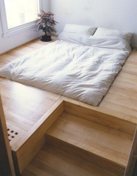 anyone have their bed on the floor like this forums. Black Bedroom Furniture Sets. Home Design Ideas