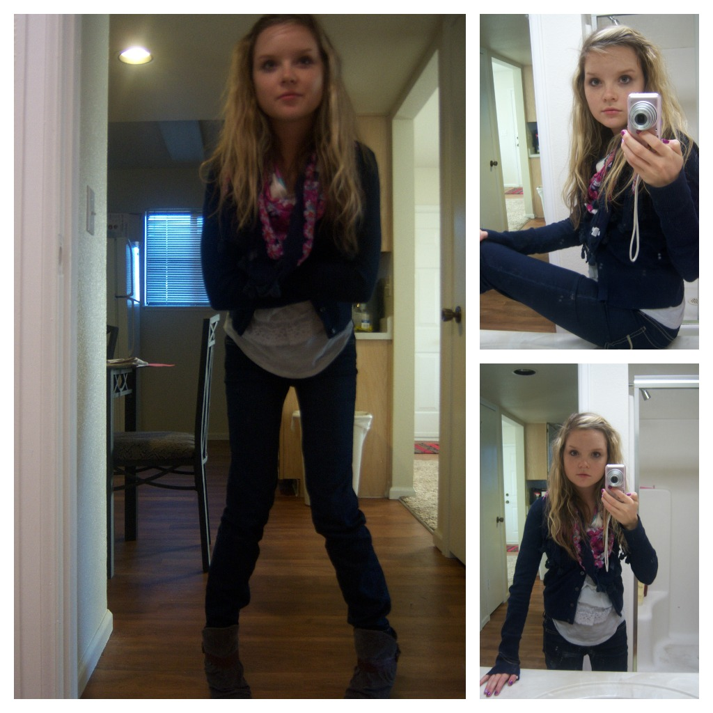 Cute fall outfits with boots photo