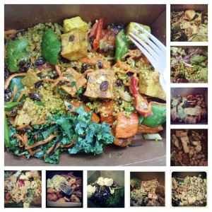 Some of my favorite salad bar creations, in collage form.