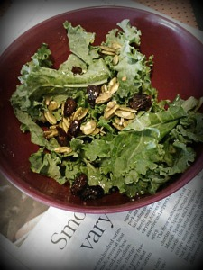 Lovin' on the raw kale salads.