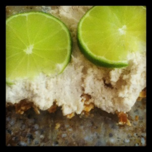 raw key lime 'cheesecake'