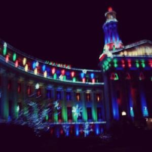 Pretty Christmas lights still up in Denver.