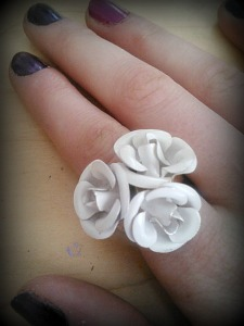 White flower bouquet ring: Forever 21.