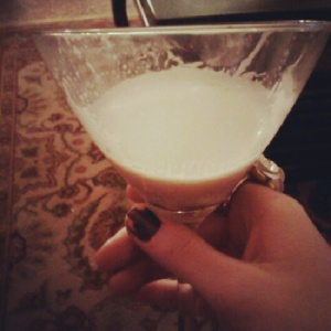 Ringing in the new year with Kahlua+almond milk+amaretto.