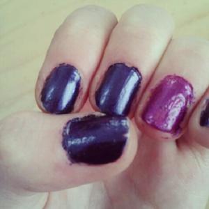 I'm still mastering the art of nail polishing.