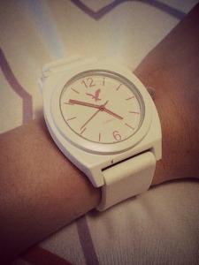 White watch: American Eagle.