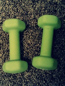 Lifting green weights makes it even more fun.