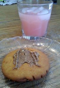 Golden corn Vitatop, Crystal Light pink lemonade.
