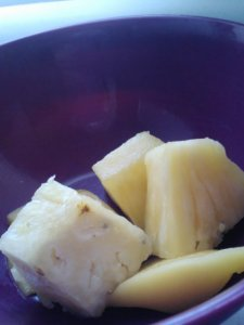 Fresh pineapple.