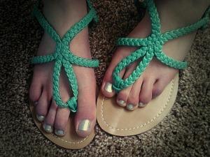 Aqua sandals (Target).