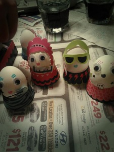 My diva Easter eggs, thanks to a Target egg kit.