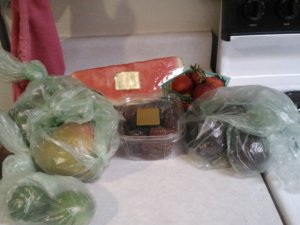 Whole Foods produce purchases this week.