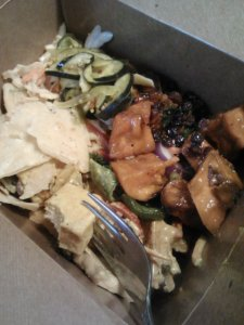Whole Foods salad bar box. Again. Never gets old.