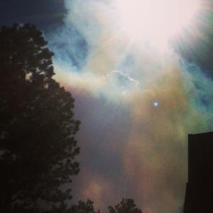 Smoke from the Big Meadows Fire in RMNP.
