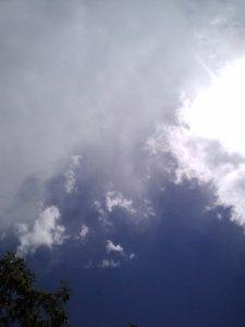 Blue skies.