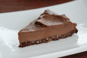 Raw chocolate cheesecake from Tastespace.