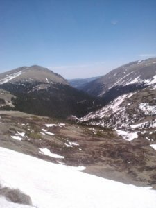Snow on Trail Ridge Road...in June!