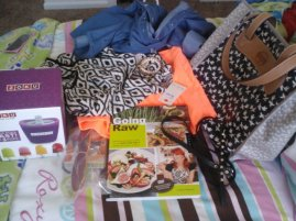 My two loves are evident in my presents: clothes and food.