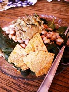 Random taco salad for dinner.