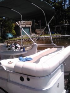The pontoon boat.