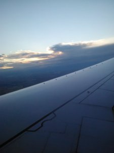 Flying back home on Southwest Airlines.
