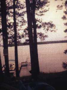 Lake Pokegama at sunset.