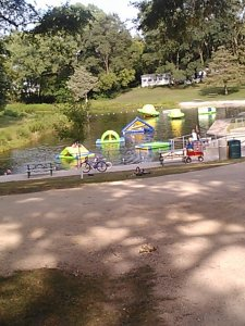The fun lake at the campground.