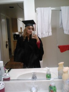 Getting ready before graduation on Saturday.