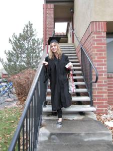 Leaving for the commencement ceremony.