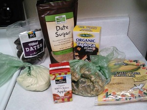 Groceries for recipes.