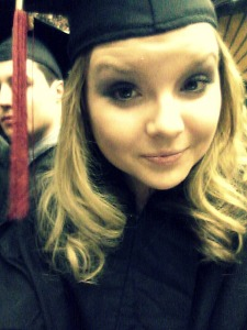 First selfie as a college graduate.