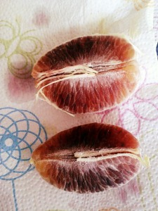 Beautiful blood oranges.