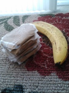 Homemade raw banana protein bars.
