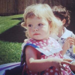 Dawwww it's little blonde baby me! #TBT