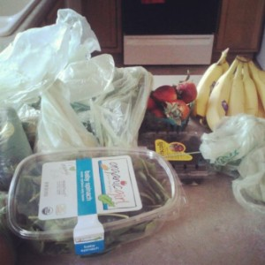 Whole Foods produce haul. This makes up at least HALF of my grocery bill.