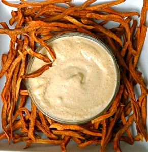 The raw sweet potato fries, courtesy of Rawmazing.