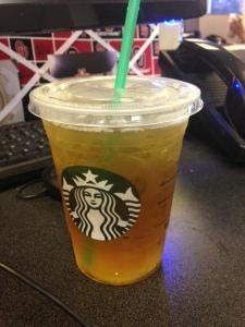 Starbucks just around the corner is one perk of work.