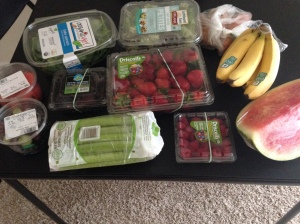 Giant produce haul (mostly organic) from Whole Foods.