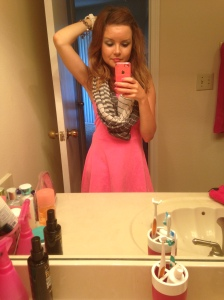 I also love dresses with scarves.