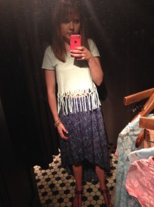 Maxi skirts and fringed crop tops are pretty damn hippie.