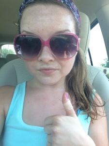 Aforementioned sweaty selfie.