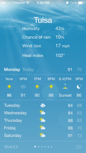 I freaking love the heat. But the humidity, not so much.