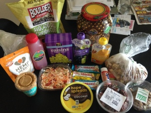 Whole Foods buys (minus unpictured produce).