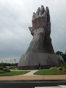 Largest praying hands in the world on the campus of ORU.