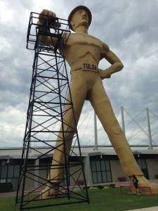 The Golden Driller.